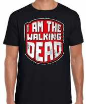 Halloween walking dead verkleed t-shirt zwart heren