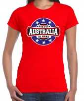 Have fear australia is here australie supporter t shirt rood heren 10215575