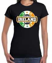 Have fear ireland is here ierland supporter t shirt zwart heren
