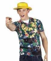 Hawaii shirt fotoprint toerist heren