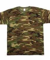 Heren army camouflage t-shirt korte mouw