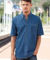 Heren denim hemd shirt