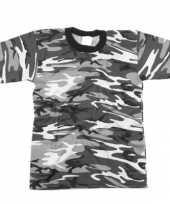 Heren grijs camouflage t-shirt korte mouw