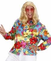 Heren hippie shirt bloemen