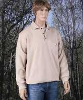 Heren lange mouw polosweater shirt