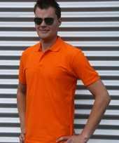 Heren oranje poloshirt katoen
