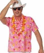 Heren roze hawaii blouse honolulu shirt