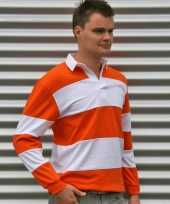 Heren rugbyshirt orange