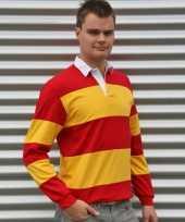 Heren rugbyshirt spain rood geel