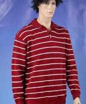 Heren sweatershirt gestreept