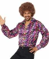 Hippie peace overhemd heren shirt