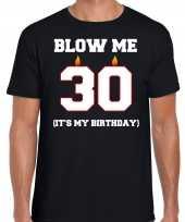 Jaar verjaardag cadeau t-shirt blow me its my birthday zwart heren 10264262
