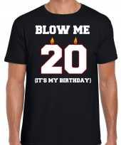 Jaar verjaardag cadeau t-shirt blow me its my birthday zwart heren 10264264
