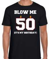 Jaar verjaardag cadeau t-shirt blow me its my birthday zwart heren 10264266