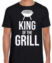 King of the grill bbq barbecue cadeau t-shirt zwart heren
