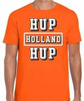 Oranje hup holland hup supporter t-shirt oranje heren