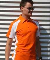 Oranje mailbu polo heren shirt