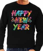 Oud nieuw trui sweater happy new year zwart heren shirt