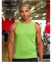 Polyester heren singlet-shirt