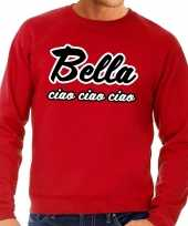 Rode bella ciao sweater heren shirt