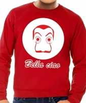 Rode salvador dali sweater heren shirt