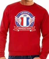 Rood france drinking team sweater heren shirt