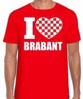 Rood i love brabant t-shirt heren