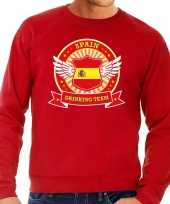 Rood spain drinking team sweater heren shirt