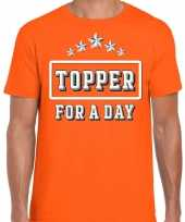 Topper for a day concert t-shirt toppers oranje heren