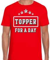 Topper for a day concert t-shirt toppers rood heren