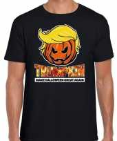 Trumpkin make halloween great again t-shirt zwart heren