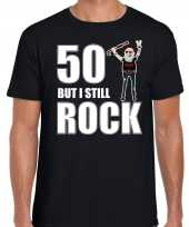 Verjaardag cadeau t-shirt abraham but i still rock zwart heren
