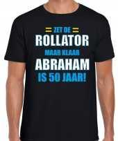 Verjaardag cadeau t-shirt rollator jaar abraham zwart heren