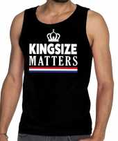 Zwart koningsdag kingsize matters tanktop heren shirt