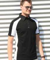 Zwarte malibu polo heren shirt